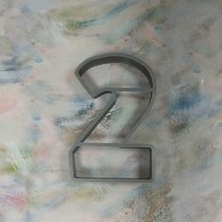 Формочка для печенья Цифра 2 8,5 см. 1