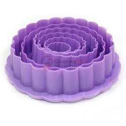 Формочка для печенья Цветок 6 шт. пластик Fissman 1