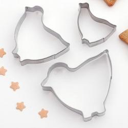 Формочка для печенья Цыпленок 3 шт. металл 1
