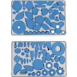Формы для изготовления цветов из мастики набор 75 шт. 2