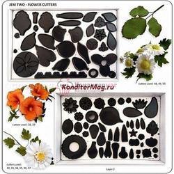 Формы для изготовления цветов из мастики набор 75 шт. 1