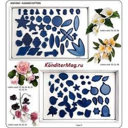 Формы для изготовления цветов из мастики набор 85 предметов 1