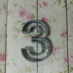 Формочка для печенья Цифра 3 8,5х5,5 см. 1