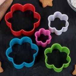 Формочка для печенья Цветочки 5 шт. пластик 1
