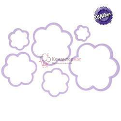 Формочка для печенья Цветы 6 шт. пластик Вилтон 1
