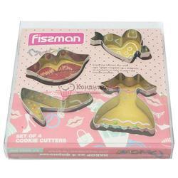 Формочка для печенья Леди 4 шт. металл Fissman 1