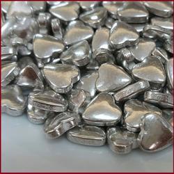 Посыпка сахарная Сердечки серебряные 9 мм. 50 г. 1