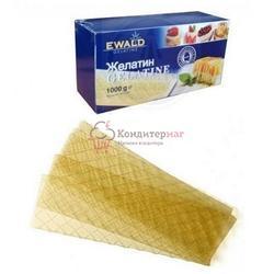 Желатин пищевой листовой Ewald 1 кг. пачка 1