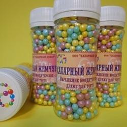 Жемчуг сахарный Детство перламутр 5 мм. 100 г. 2