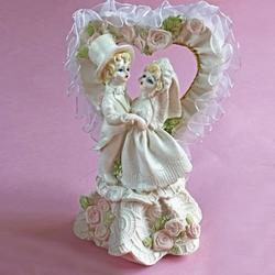 Жених и невеста 14х9 см. пластик 1