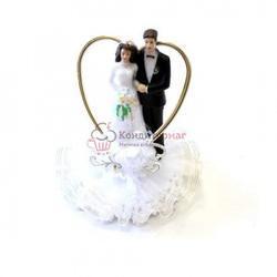Жених и невеста свадебное украшение 16 см. Ambras пластик 1