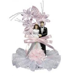 Жених и невеста свадебное украшение 21 см. Ambras пластик 1