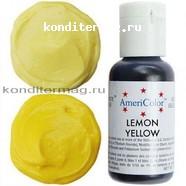 Краситель гелевый AmeriColor Лимонный желтый Lemon Yellow 21 г. 1