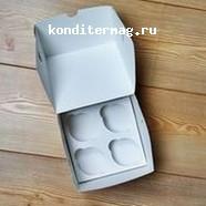 Упаковка для 4 капкейков Белла 2