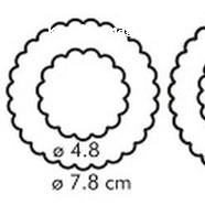 Формочка для печенья Цветы 6 размеров пластик Tescoma 3
