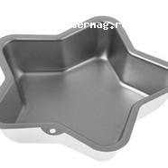 Форма для выпечки Звезда 21х5 см. алюминий 1