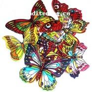 Вафельные бабочки микс разноцветные 10 шт. 1