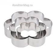 Форма для выпечки Ромашка 3 шт. металл 1