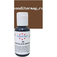Краситель гелевый AmeriColor Шоколадный Chocolate Brown 21 г. 3