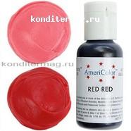 Краситель гелевый AmeriColor Красный Яркий Red-Red 21 г. 1