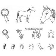 Пэчворк  Лошадь набор 4